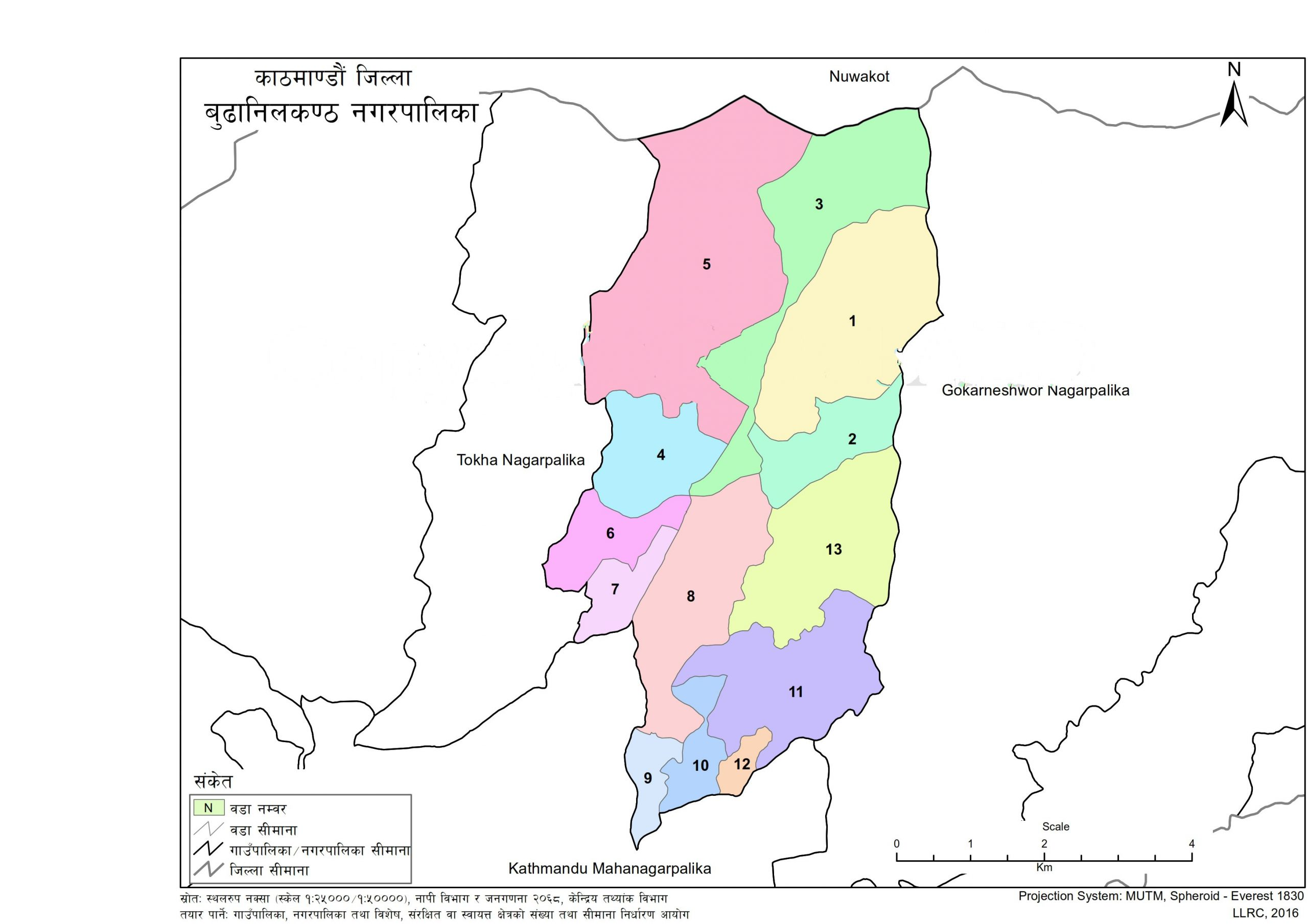 Map of Budhanilkantha Municipality, Kathmandu, Nepal – Nepal Archives